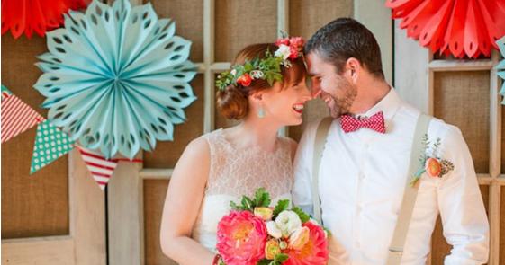 Wedding Colors I Love | Shades of Red + Aqua!