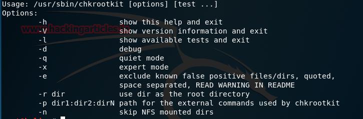 Chkrootkit Kali Linux forensic tool
