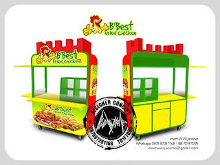 produksi dan jasa desain gerobak fried chicken