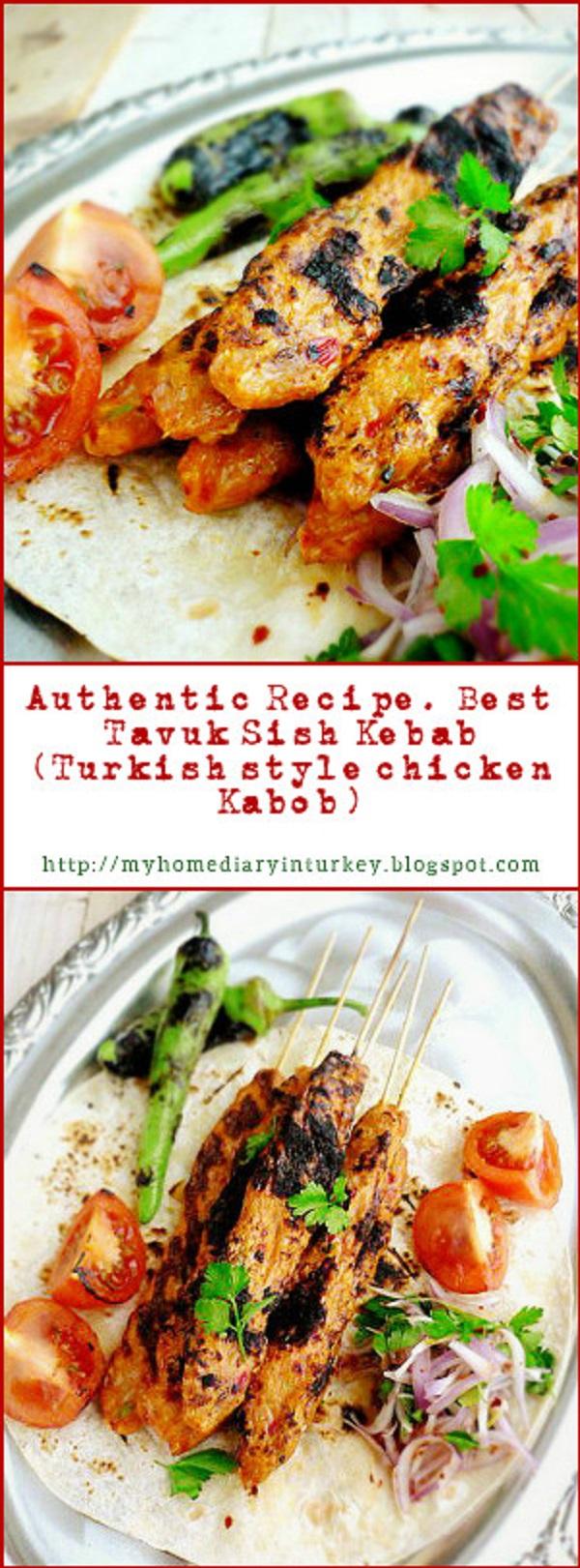 Tavuk Kebabı /  Best Chicken sish Kebab recipe. This delicious chicken kebab was inspired by famed Adana kebab. But I made it from chicken instead of lamb/ beef. But be sure this would be your new favorite list.#Turkishkebab #Turkishfood #kebab #kabob #chickenkebab #lamb #beefkebab #adanakebab #maindish #sishkebab #barbecue #grilled #InheritanceRecipes #resepmasakanturki #foodphotography