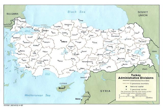 Turkey Blank Map PDF