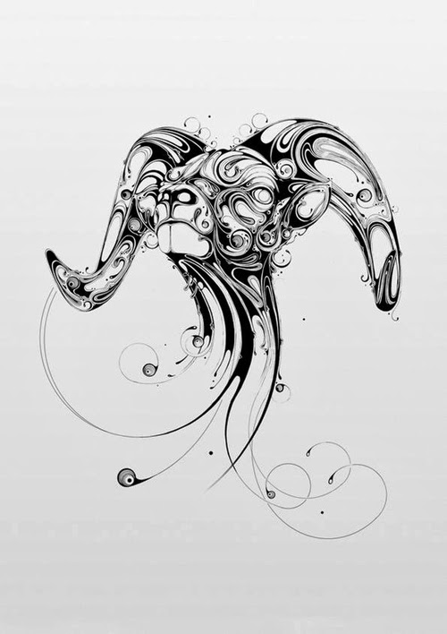 06-Ram-Si-Scott-Inked-Animals-Drawings-Resonate-www-designstack-co