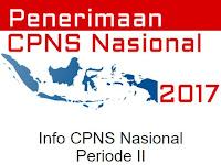 Penerimaan CPNS Periode II Tahun 2017