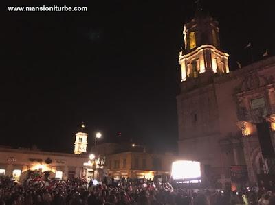 Plaza Valladolid en Morelia durante en evento de K'uinchekua