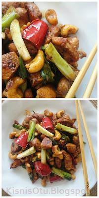 Kaju, Fıstıklı, Tavuk, Tarifi, Yemek tarifleri, Denenmiş, Soya sosu, Kişniş otu