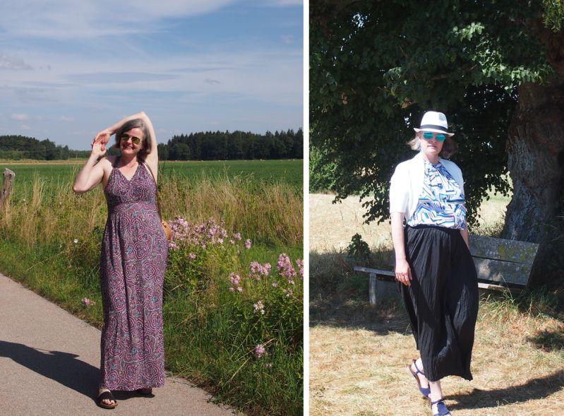 Maxikleider und -röcke. Meine Begleiter im August.