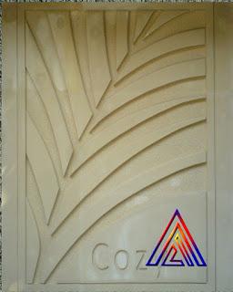 Relief daun Kelapa