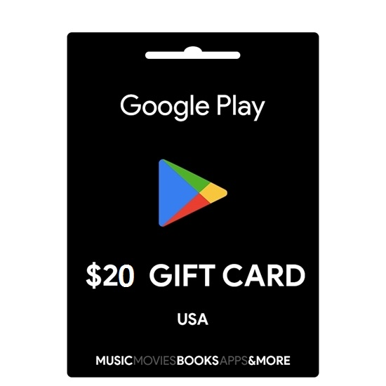 gift cards google play usa 20$ 490.000 VNĐ
