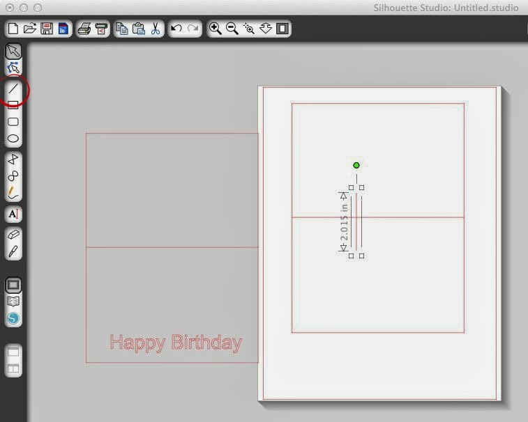 Pop-up card, Silhouette, tutorial, Silhouette Studio, free template, draw a line tool