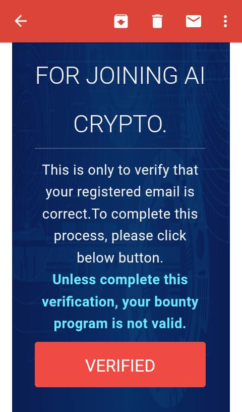 Klik link aktivasi yang telah diberikan oleh pihak AiCrypto melalui Email yang telah Anda daftarkan sebelumnya.