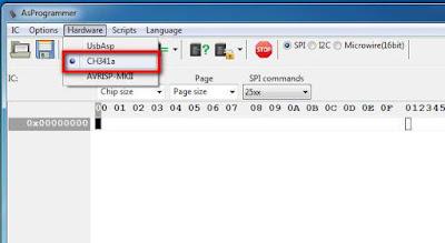 Jalankan Alat CH341A dengan AsProgrammer V1.4