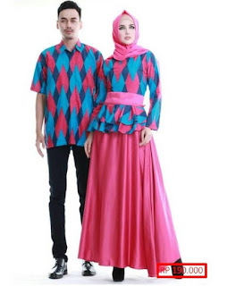 contoh baju lebaran couple keluarga