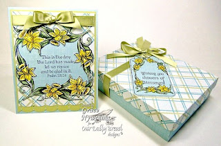 Stamps - Our Daily Bread Designs Daffodil Tag Set, Daffodil Corner