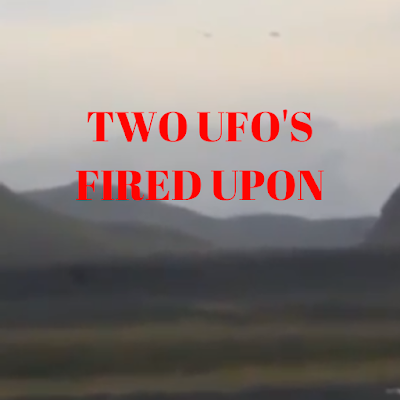 The military have used heavy artillery against UFOs and this proves it.