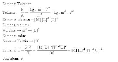 Dimensi tekanan, volume dan suhu
