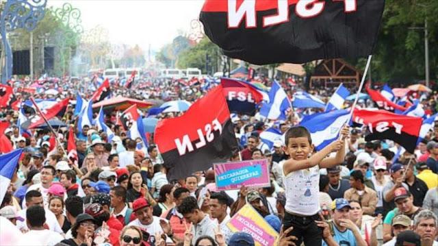 Miles de manifestantes defienden la paz en Nicaragua