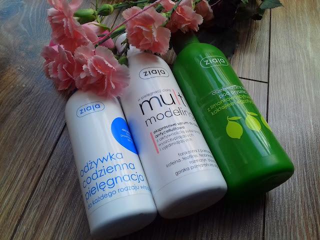 Ziaja - odżywka codzienna pielęgnacja, serum antycellulitowe i limonkowy żel pod prysznic - recenzje część I