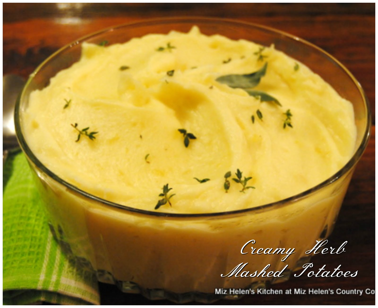 Creamy Herb Mash Potatoes