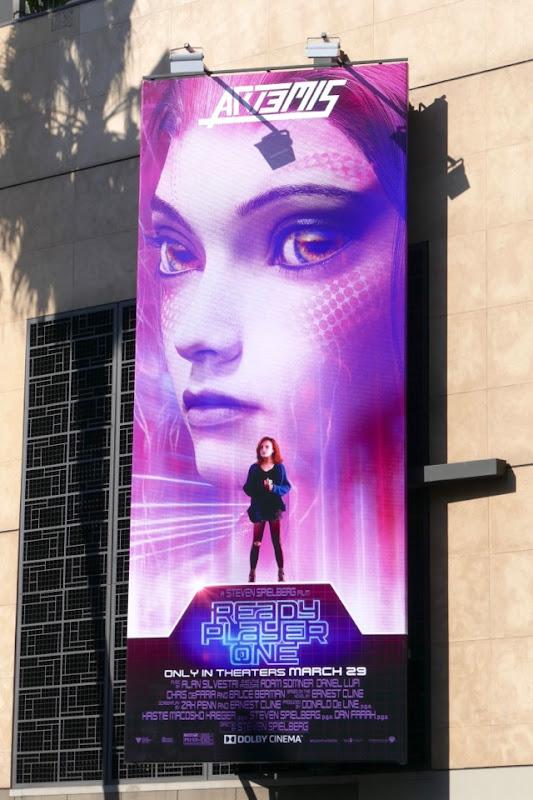 Ready Player One Art3mis billboard