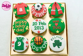 Liverpool And Boston Celtics Cupcakes