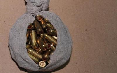Εντοπίστηκαν δύο τσουβάλια με 1.028 σφαίρες για kalashnikov