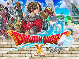 Imagen con el arte gráfico del DVD de Dragon Quest X, Nintendo Wii, Square-Enix, 2012