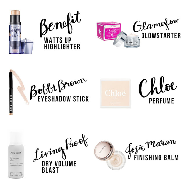 Sephora Makeup, Subscription Box, Makeup Subscription Box, College Blogger, Beauty Blogger, Lifestyle Blogger, Benefit Watts Up Highlighter, Glamglow Glowstarter, Bobbi Brown Eyeshadow Stick, Chloe Perfume, Living Proof Dry Volume Blast, Josie Maran Finishing Balm