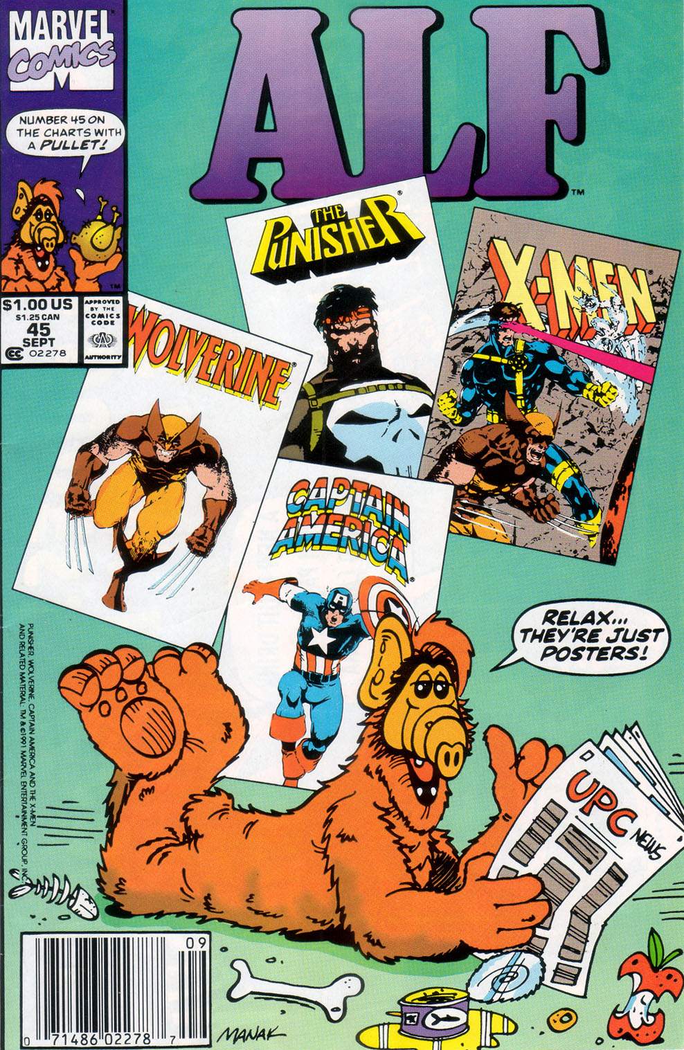 Read online ALF comic -  Issue #45 - 1
