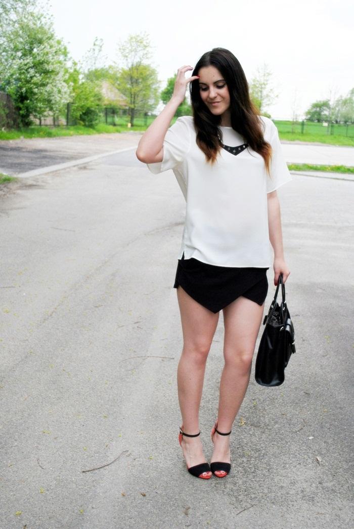 biel i czerń w stylizacji