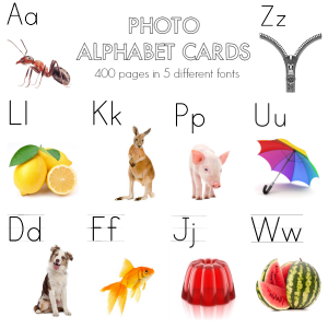 Printable Alphabet Cards - offering perfect support for beginning readers and writers | you clever monkey