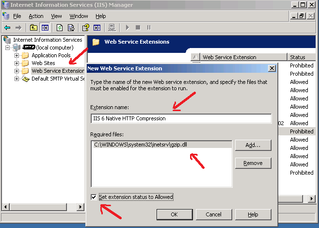 IT Click: 2  How to enable IIS 6 (HTTP) GZIP compression for