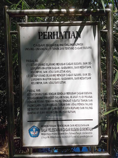 Plang Cagar Budaya di Kompleks Makam Tuanku Imam Bonjol, Lotta, Pineleng, Minahasa, Sulawesi Utara +Jelajahsuwanto