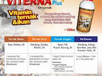 VITERNA PLUS - Vitamin Khusus Peternakan dan Perikanan Paling Komplit