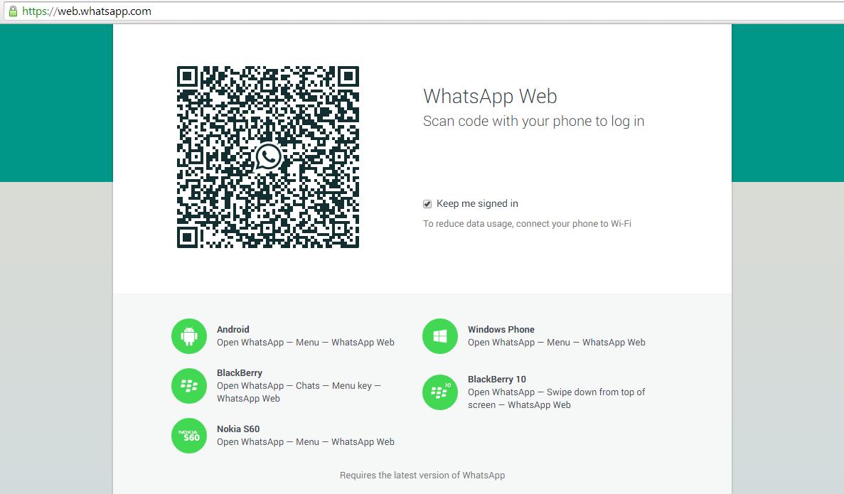 web.whatsapp.com pindai kode qr