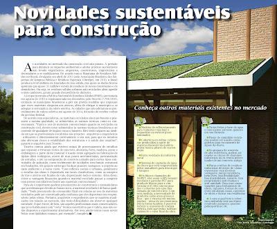 Novidades sustentáveis para construção: reportagem publicada em Paulínia.