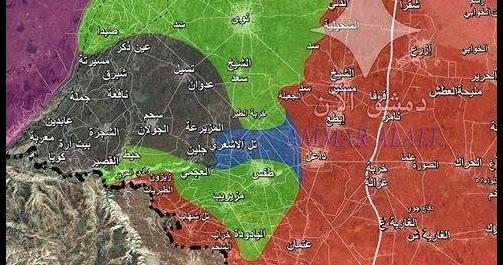 Battaglia finale nel Sud della Siria! Gli eroi dell'Esercito Arabo sono a contatto con l'ISIS, i servi di Tel Aviv schierati lungo il Golan!