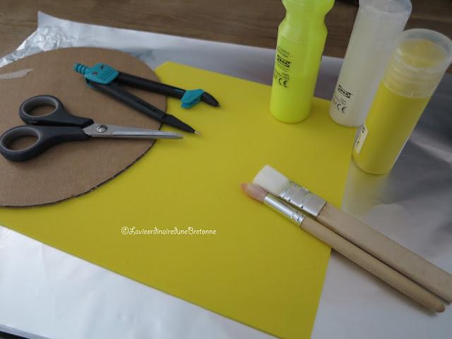 la vie ordinaire d 39 une bretonne activit peindre sur du papier aluminium pour en faire un soleil. Black Bedroom Furniture Sets. Home Design Ideas