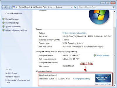 Windows 7 Activation (Reccomended)