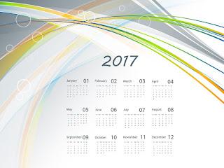 2017カレンダー無料テンプレート206