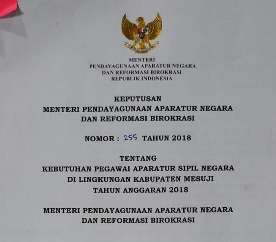 Formasi Cpns 2018 Kabupaten Mesuji Lampung Sk Kemenpanrb Informasi Pendidikan Dan Dunia Kerja