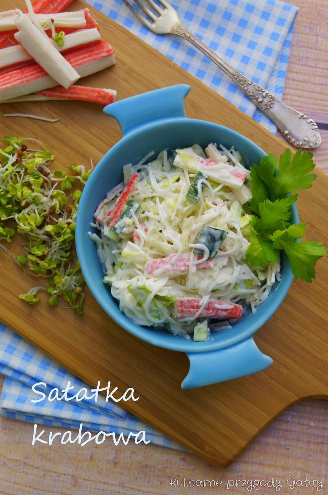 Salatka Z Makaronem Ryzowym I Surimi Kulinarne Przygody Gatity