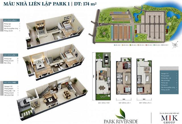 Mẫu Biệt thự - Nhà phố LL01  Park River Side quận 9 HCM