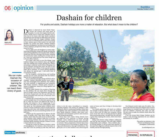 Dashain For children