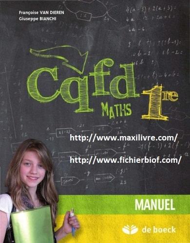 CQFD Maths Première - Manuel