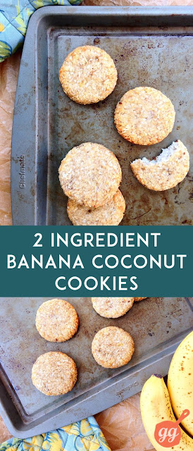 2 Ingredient Banana Coconut Cookies ~ Recipes