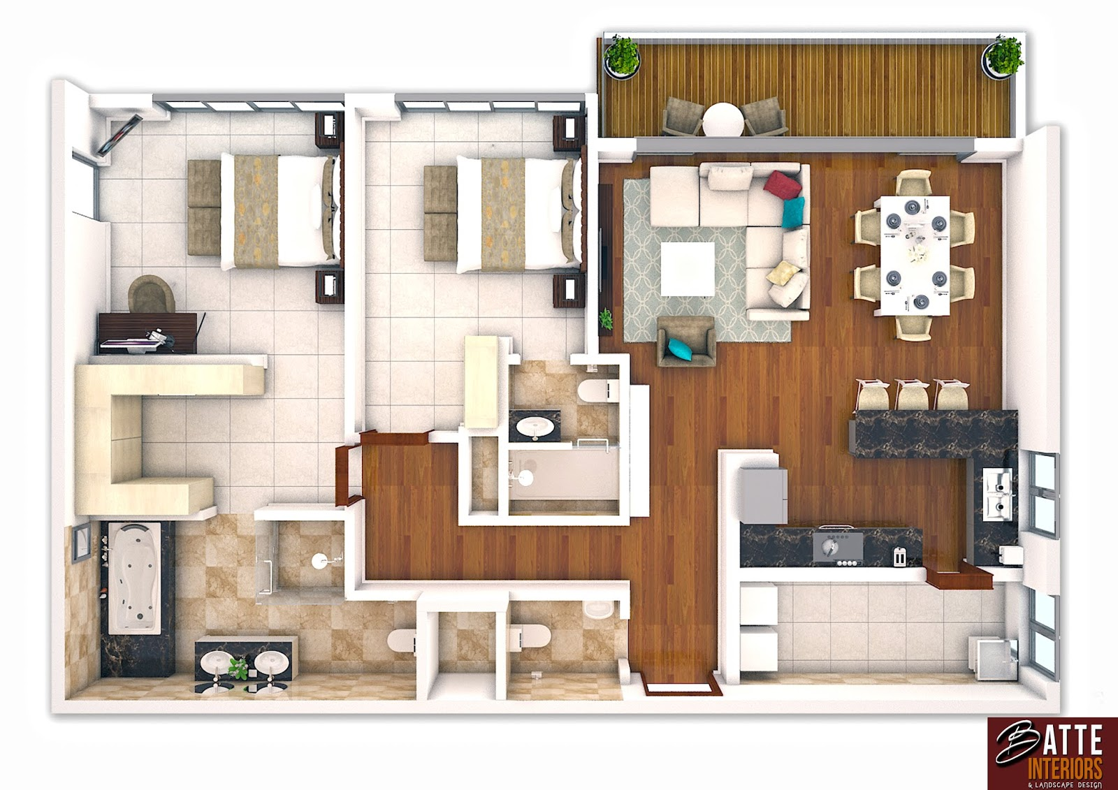 Interior Design Uganda 3d Furniture Layout Plans By Batte Ronald