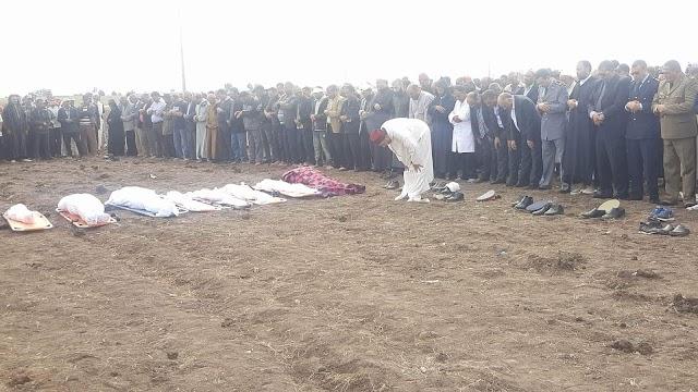 عامل إقليم برشيد يترأس مراسيم جنازة ضحايا حادثة السير
