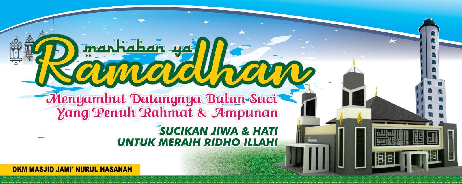 Spanduk Ramadhan Warna Biru