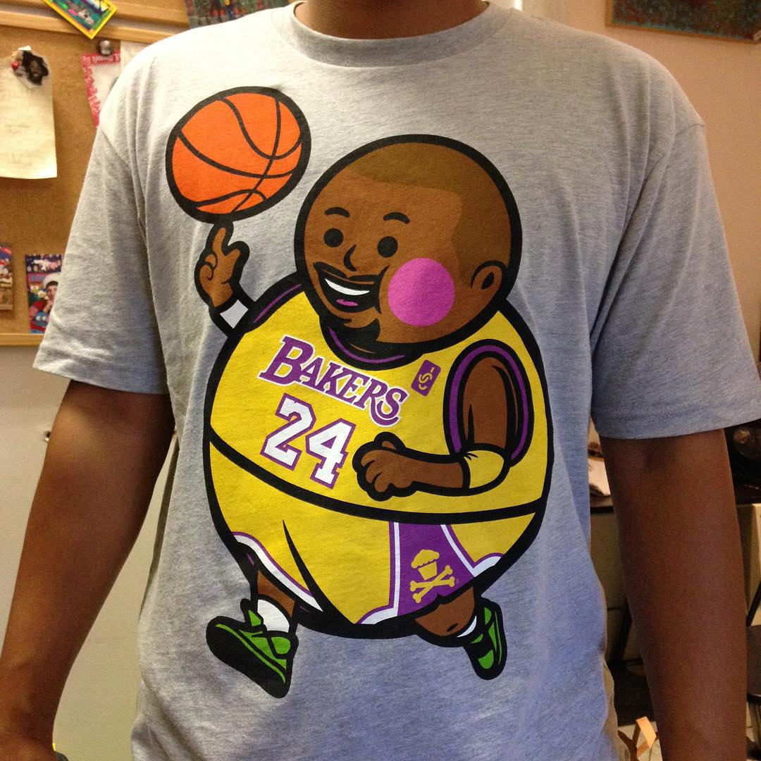 "3af0d5744 The Blot Says...  LA Lakers ""Big Kid Kobe"" Bryant T-Shirt by Johnny ..."