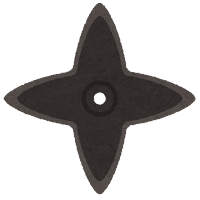 手裏剣のイラスト(四方型)